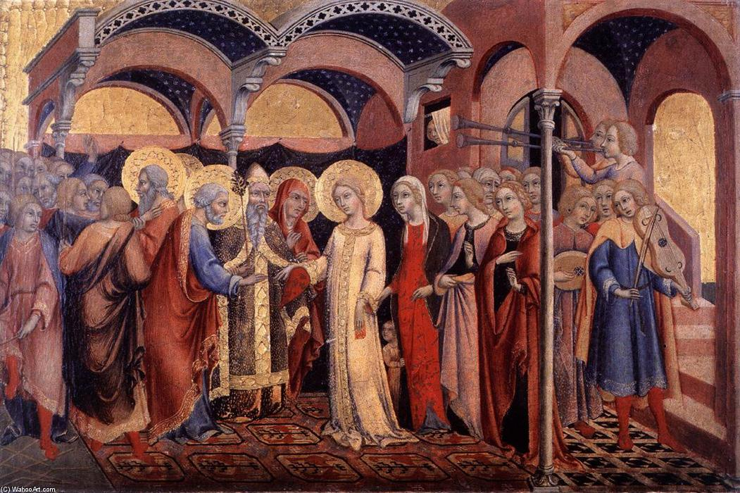 Marriage of the Virgin, 1448 by Sano Di Pietro (1406-1481, Italy) | Art Reproductions Sano Di Pietro | WahooArt.com