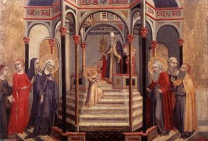 Sano Di Pietro - Presentation of the Virgin at the Temple