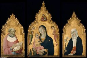 Order Art Reproductions | Triptych, 1470 by Sano Di Pietro (1406-1481, Italy) | WahooArt.com