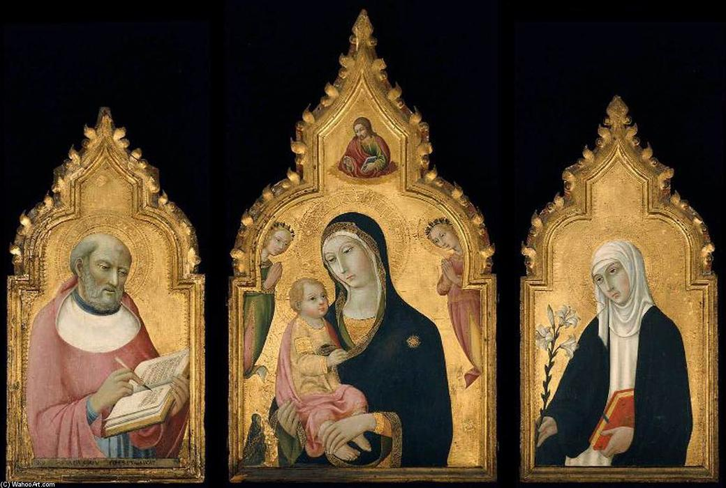 Triptych, 1470 by Sano Di Pietro (1406-1481, Italy) | Museum Quality Reproductions | WahooArt.com