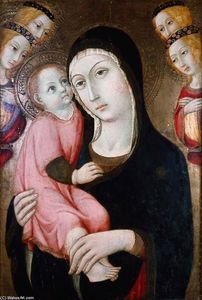 Sano Di Pietro - Virgin and Child with Four Angels