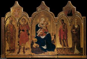 Sassetta (Stefano Di Giovanni) - Madonna of Humility with Four Saints