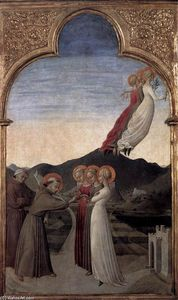Sassetta (Stefano Di Giovanni) - Marriage of St Francis to Lady Poverty
