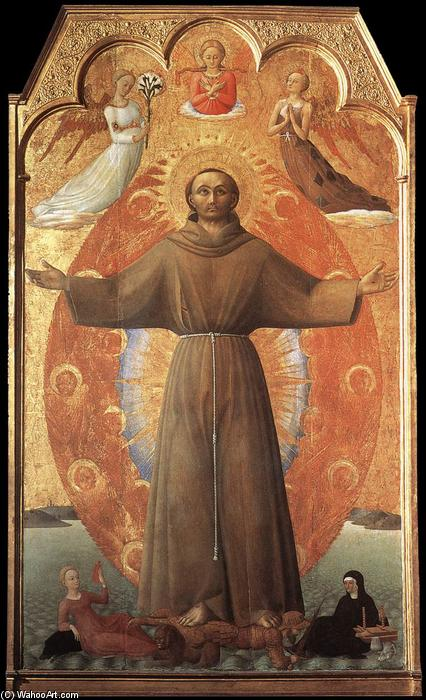 The Ecstasy of St Francis, 1437 by Sassetta (Stefano Di Giovanni) (1392-1450, Italy) | Painting Copy | WahooArt.com