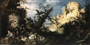 Roelandt Savery - Landscape with Birds