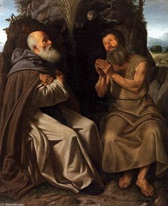 Giovanni Girolamo Savoldo - St Anthony Abbot and St Paul