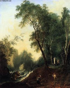 Lorenz Adolf Schönberger - Landscape with Gessner's Tomb