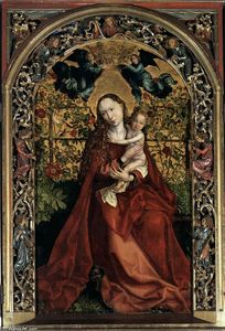 Martin Schongauer - Madonna of the Rose Bush