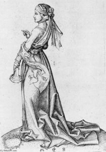 Martin Schongauer - The First Foolish Virgin