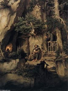 Moritz Von Schwind - A Player with a Hermit
