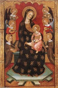 Pere Serra - Madonna with Angels Playing Music