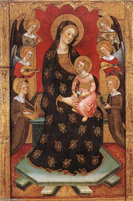 Madonna with Angels Playing Music, 1390 by Pere Serra | Museum Quality Reproductions | WahooArt.com
