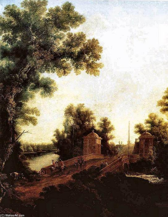 Stone Bridge in Gatchina near Constable Square, Oil On Canvas by Semyon Fyodorovich Shchedrin (1745-1804, Russia)