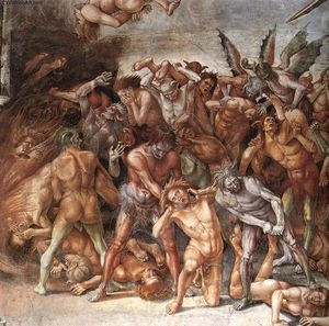 Luca Signorelli - The Damned (detail) (9)