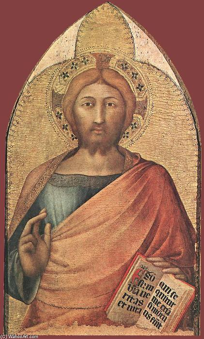 Blessing Christ, 1317 by Simone Martini (1284-1344, Italy) | Reproductions Simone Martini | WahooArt.com