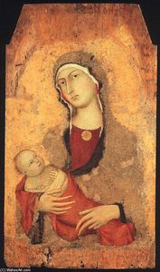 Simone Martini - Madonna and Child (from Lucignano d'Arbia)