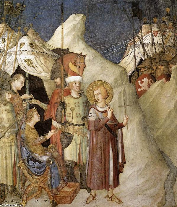 Saint Martin Renounces his Weapons (scene 4), 1312 by Simone Martini (1284-1344, Italy) | Museum Quality Reproductions | WahooArt.com