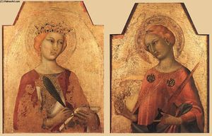 Simone Martini - St Catherine and St Lucy