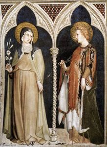 Simone Martini - St Clare and St Elizabeth of Hungary