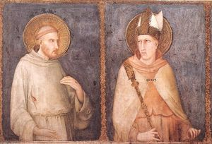 Simone Martini - St Francis and St Louis of Toulouse