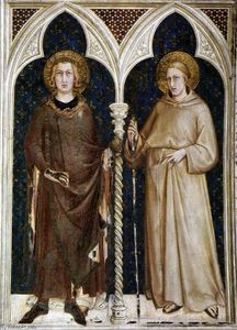 Simone Martini - St Louis of France and St Louis of Toulouse