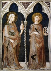 Simone Martini - St Mary Magdalen and St Catherine of Alexandria