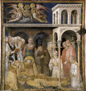 Simone Martini - The Death of St Martin (scene 9)