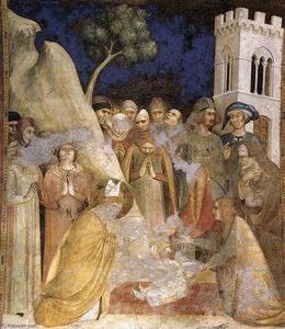 Simone Martini - The Miracle of the Resurrected Child (scene 5)
