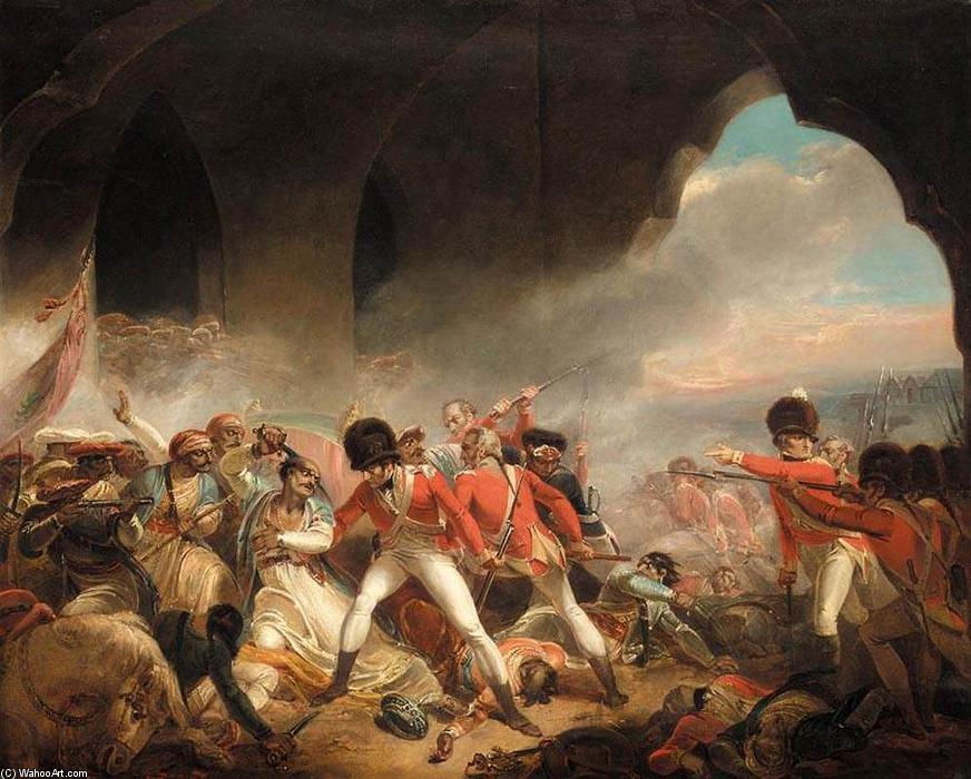 Buy Museum Art Reproductions | The Last Effort and Fall of Tippoo Sultan, 1800 by Henry Singleton (1766-1839, United States) | WahooArt.com