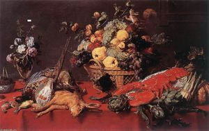 Frans Snyders - Still-Life with a Basket of Fruit