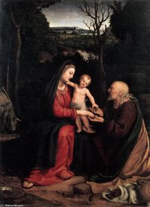 Andrea Solario - Rest during the Flight to Egypt