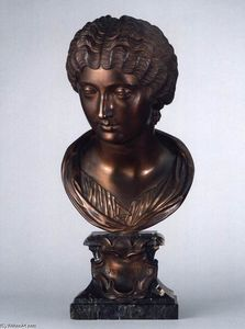 Massimiliano Soldani Benzi - Bust of Faustina the Younger