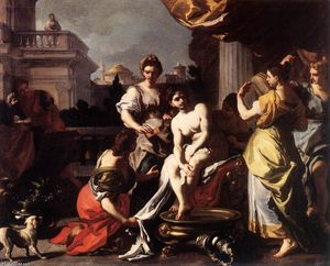 Francesco Solimena - Bathsheba Bathing