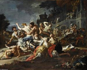 Francesco Solimena - Battle between Lapiths and Centaurs
