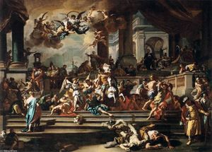 Francesco Solimena - Expulsion of Heliodorus from the Temple