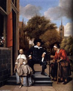 Jan Steen - A Burgher of Delft and His Daughter