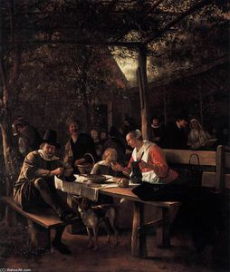 Jan Steen - Tavern Garden