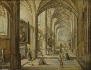 Hendrick Van The Younger Steenwyck - Interior of a Gothic Church