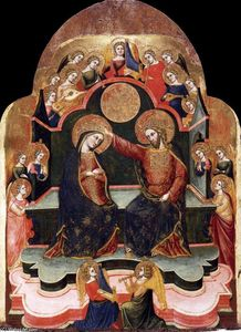 Order Art Reproductions | Coronation of the Virgin, 1381 by Stefano Di Sant'agnese | WahooArt.com