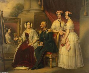 Karl Joseph Stieler - Portrait of the Family of Joseph, Duke of Saxe-Altenburg
