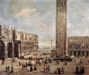 Antonio Stom - View of the Piazza San Marco from the Procuratie Vecchie