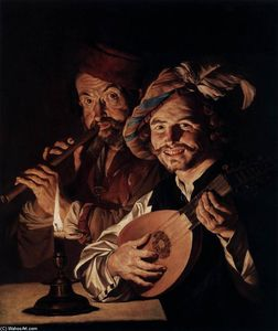 Matthias Stom - The Lutenist and the Flautist