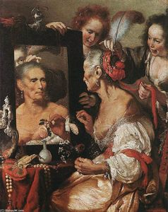 Bernardo Strozzi - Old Woman at the Mirror