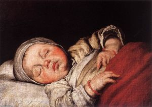 Bernardo Strozzi - Sleeping Child - (paintings reproductions)