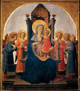 Zanobi Strozzi - Madonna and Child with Angels