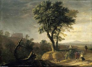 Herman Van Swanevelt - An Italianate Landscape