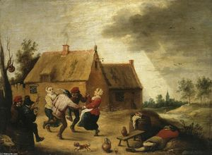 Abraham Teniers - Dancing Peasants