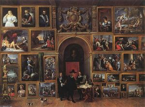 David The Younger Teniers - Archduke Leopold Wilhelm of Austria in his Gallery
