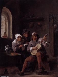David The Younger Teniers - Peasants Making Music