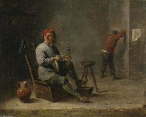 David The Younger Teniers - Smoker